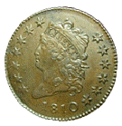 classic head cent 1808-1814 front