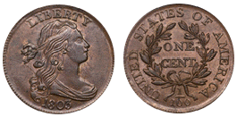 draped bust cent 1796-1807
