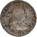 draped bust dime 1796-1807 front