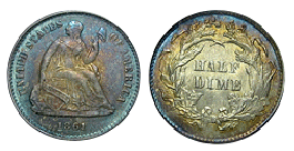 liberty seated half dime 1837-1873
