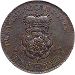 1723 rosa Americana twopence back