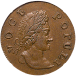 1760 voce populi halfpenny front