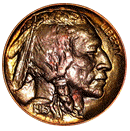 buffalo nickel 1913-1938 front