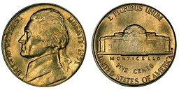 jefferson nickel 1938 to Date