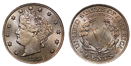 liberty nickel 1883-1913