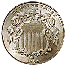 shield nickel 1866-1883 front