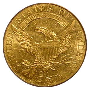1808 Quarter Eagle back