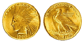 gold ten dollars 1795-1933