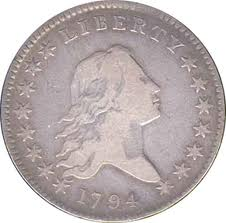 flowing hair half dollar 1794 front