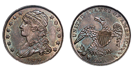 capped bust quarter 1815-1838