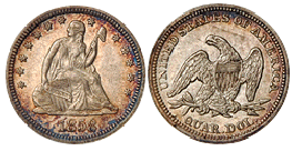 liberty seated quarter 1838-1891