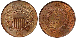 two cents 1864-1873